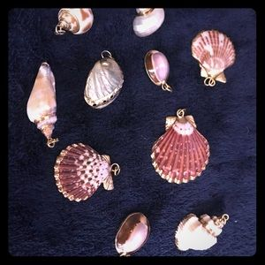 Jewelry - Gold plated Seashell charms